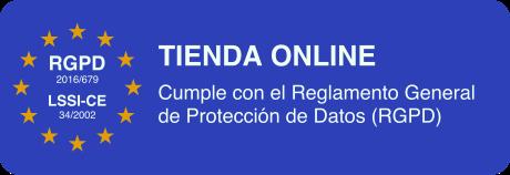 Tienda Online inscrita en la Agencia Española de Protección de Datos